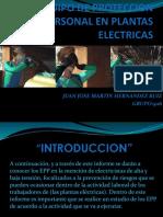 Equipo de Proteccion Personal en Plantas Electricas
