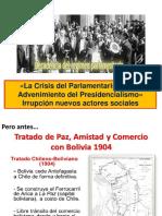 Crisis Parlamentarismo y Advenimiento Presidencialismo