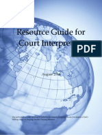 Resource Guide Court Interpreters