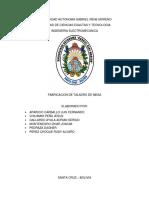 Informe Taladro