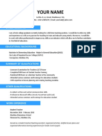 Sample Resume for Teachers Without Experience 1