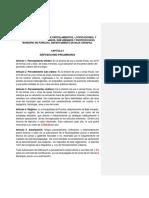 Anteproyecto Reglamento Municipal de Parcelamientos (II)