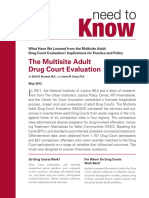 NADCP National Association of Drug Court Professionals need to Know Handout