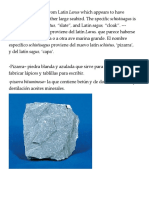 Slate, Shale -- Pizarra, Esquisto (129KB)