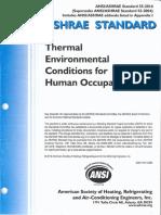 Ashrae Standard 55 2013 Thermal