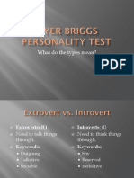Myer Briggs Personality Test