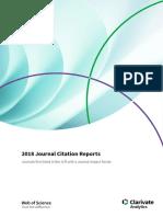 2018 Journal Citation Reports