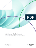2018 Journal Citation Reports