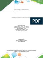 Fase 3 –Identificación de impactos ambientales