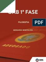 FILOSOFIA OAB PRIMEIRA FASE