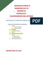 2017 II Semana 03_Capitulo II_Planteamiento Del Estudio