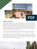 Primera Jornada Coordinadores Microcentros Rurales