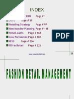 Fashion Retail Management