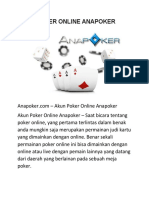 Akun Poker Online Anapoker