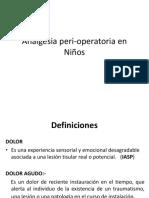 Analgesia Peri-operatoria en Niños