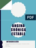 Angina Crónica Estable.