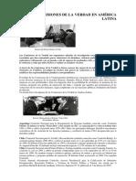 Las Comisiones de La Verdad en América Latina