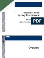 Introduction to Spring Framework (Presentation - 143 Slides)