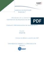 Unidad 2 Metodologias de Gestion de TI