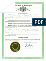 Washington Trails Day Proclamation 2018