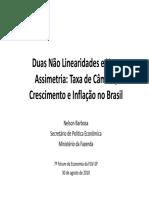 Duas Não Linearidades e Uma Assimetria Taxa de Câmbio, Crescimento e Inflação No Brasil-Nelson Barbosa