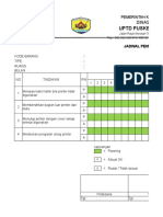 Form Jadwal Pemeliharaan Printer