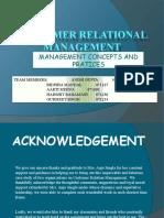 Customer Relational Management