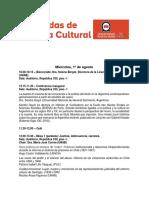 PROGRAMA FINAL I Jornadas de Historia Cultural UNAB