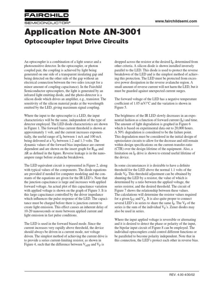 Teori Optocoupler Diode Light Emitting Led Circuit