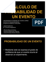 CÁLCULO DE PROBABILIDAD DE UN EVENTO