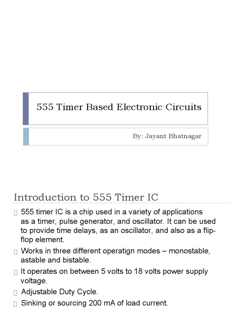 555timerbasedelectroniccircuits 150619051517 Lva1 App6892 555 Timer Circuit Remote Control Jammer Electrical Components Electronic Design