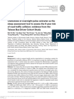 Cohort Study Evidence Taiwan bus Driver with risk of accident