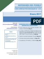 Reporte Mensual de Conflictos Sociales N 155 Enero 2017