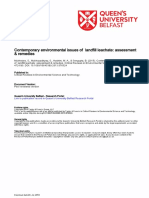 Contemporary Environmental Issues of Landfill Leachate Assessment and Remedies