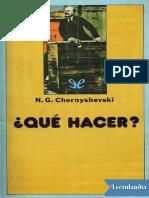 Chernyshevski - Qué hacer.pdf