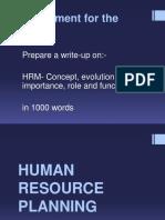 3 Human Resource Planning