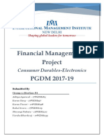 Financial Management I Project _ Group 3_Section D