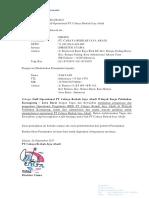 Surat Penunjukan Perwakilan Operational - Karangsong
