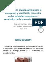 Manejo de La Sedoanalgesia Para La Intubación. Dra. Riaza
