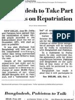 Bangladesh to Take Part in Talks on Repatriation