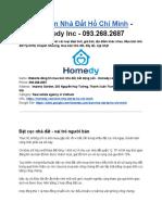 Mua Bán Nhà Đất Hồ Chí Minh - Homedy Inc - 093.268.2687