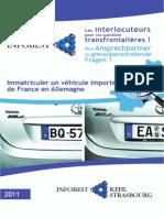 Immatriculer Un Vehicule en Allemagne