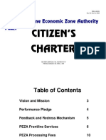 PEZA Citizens Charter