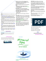 Clarity Water Products - 2015 MINERAL SPA