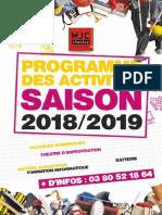 Plaquette Mjc 2018_2019