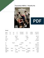 Lirik Dan Terjemahan SHINee- Stand by Me
