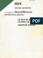 FR A024S,044 EC Instruction Manual IB(NA) 66627 B (12.96)