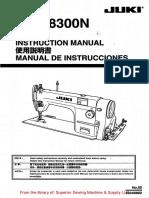 Juki DDL-8300N Instruction Manual