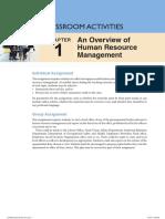 HRM Classroom Activities - Chapter 1