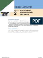 HRM Classroom Activities - Chapter 2